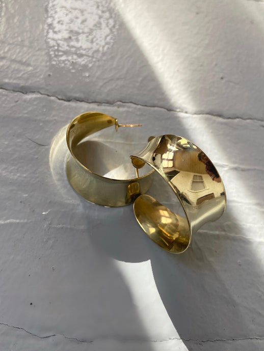 Vintage Brass Hoops - Limited Editions