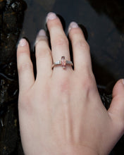 Load image into Gallery viewer, Sunstone & Antique Diamond Ring