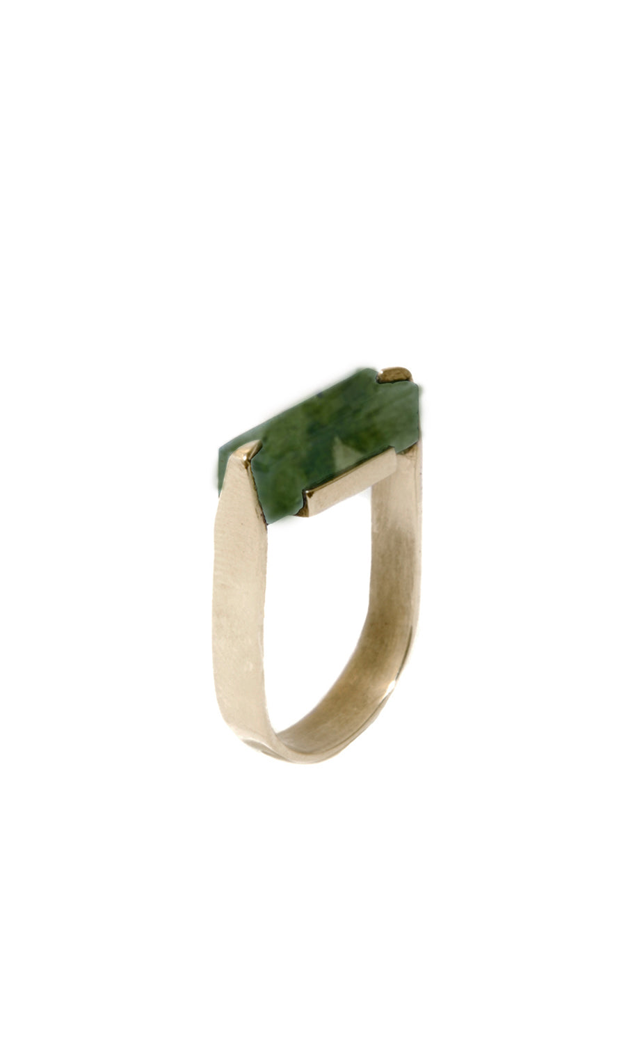 Naed Ring with Serpentine