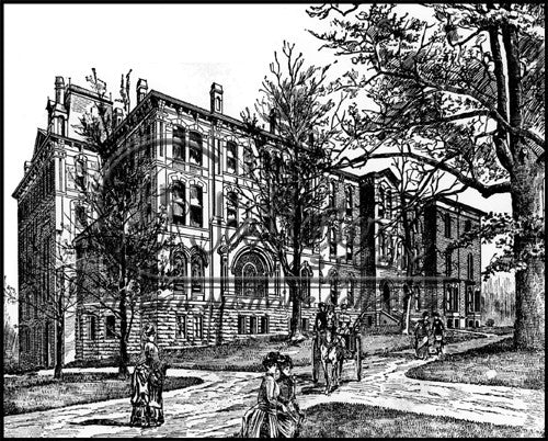 Line Drawing of St. Cecilia Motherhouse