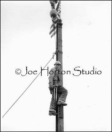 Life & Casualty Tower Construction - setting the flag, circa mid 1950's