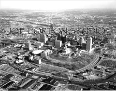 Wide Aerial View of Downtown Nashville, circa 1980