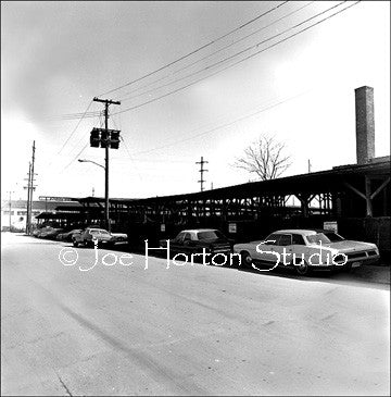 The Nashville Stock-yards - circa 1975 with corrals and parked cars along the side