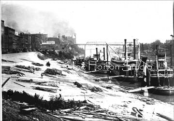 Nashville Wharf with Steamboats - circa 1900