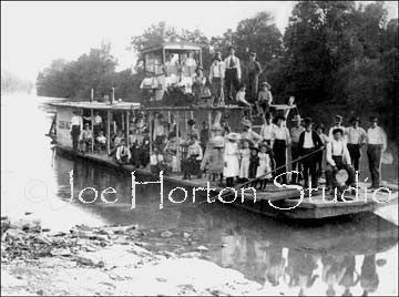 Float Boat on the River