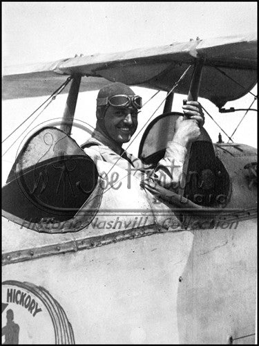 Pilot in his Airplane