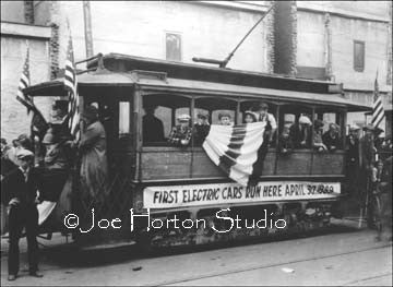 First Electric Streetcar - circa 1889