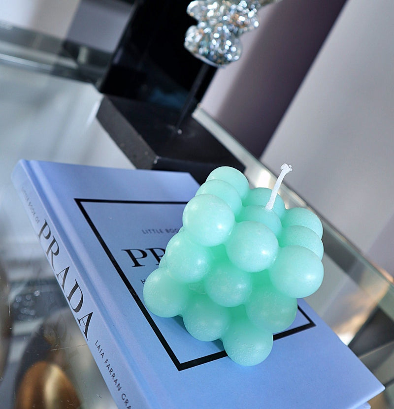 Kaars Bubbel Mint Green