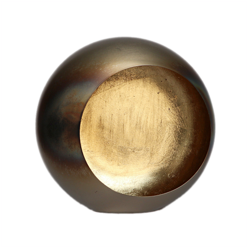 Theelichthouder Circle Votive burned brass / gold medium