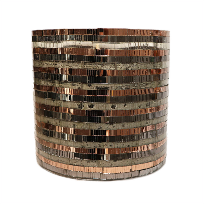 Outdoor Candle Mosaic Copper L