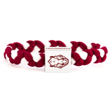 Glass-U Arkansas Gameday Gear featuring woven bracelet