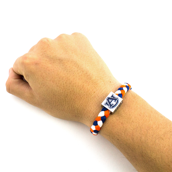 Glass-U Auburn University woven bracelet