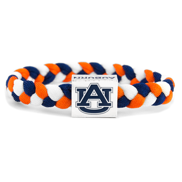 Auburn University woven bracelet by Glass-U