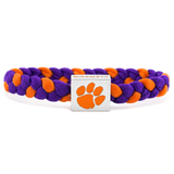 Clemson University woven bracelet by Glass-U