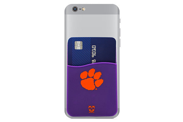 Glass-U Clemson phone wallet