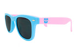Glass-U pink and blue sunglasses