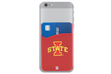 Glass-U Iowa State Cardinals phone wallet on phone