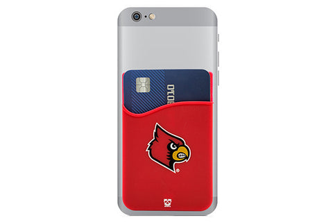 Glass-U Louisville Cardinals phone wallet on phone
