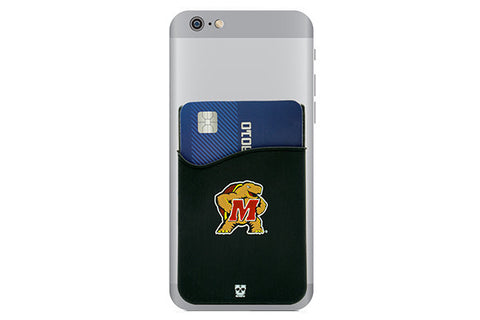 Glass-U Maryland Terrapins Phone Wallet on phone