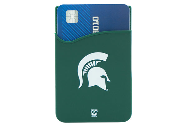 Glass-U Michigan State Spartans Phone wallet on phone