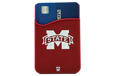 Glass-U Mississippi State Bulldogs phone wallet on phone