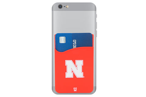 Glass-U Nebraska Cornhuskers phone wallet on phone