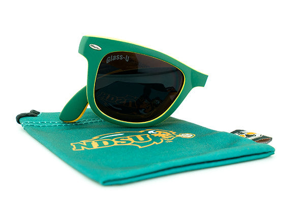 Glass-U North Dakota State Bison Sunglasses with matching microfiber pouch