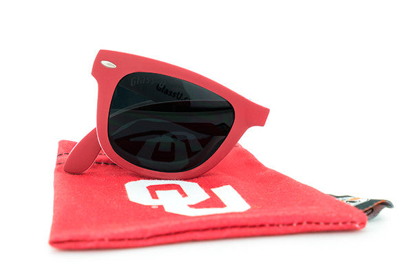 Glass-U Oklahoma Sooners sunglasses with matching microfiber pouch