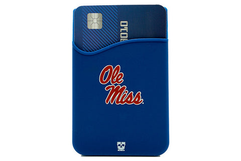 Glass-U Ole Miss Rebels phone wallet on phone