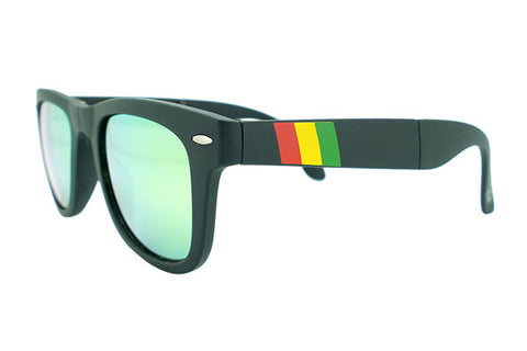 Glass-U custom designed One Love Rasta Sunglasses
