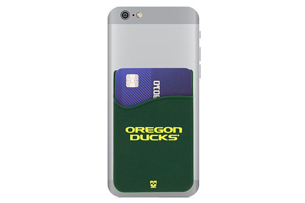 Glass-U Oregon Ducks Phone wallet on phone