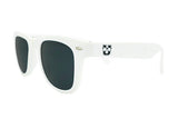 Glass-U custom designed all white sunglasses