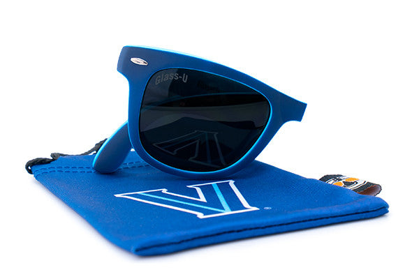 Glass-U Villanova Wildcats sunglasses with matching microfiber pouch