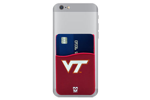 Glass-U Virginia Tech Hokies phone wallet on phone