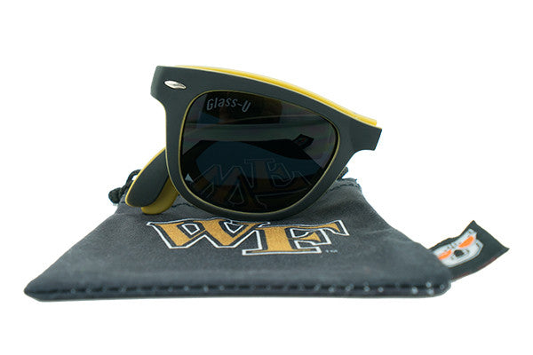 Glass-U Wake Forest Demon Deacons sunglasses with matching microfiber pouch