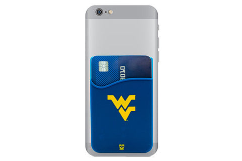 Glass-U West Virginia Mountaineers phone wallet on phone