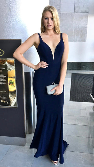 Navy Couture Evening Gown