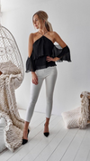 Black off the shoulder womens top Venus and Apollon