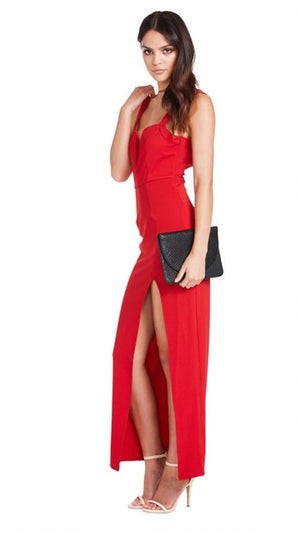 Red Womens Evening Dress
