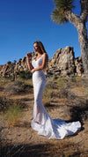 White Couture Sequin Wedding Dress