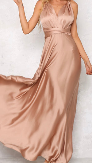 Multi Way Satin Evening Gown
