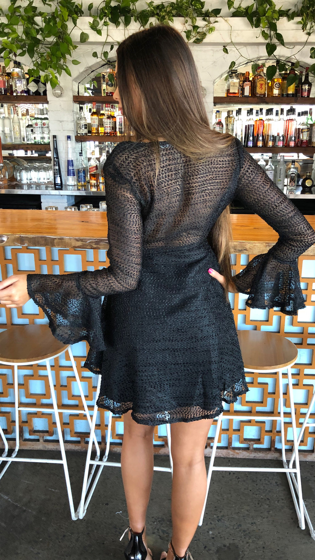 Little Black Long Sleeved Dress
