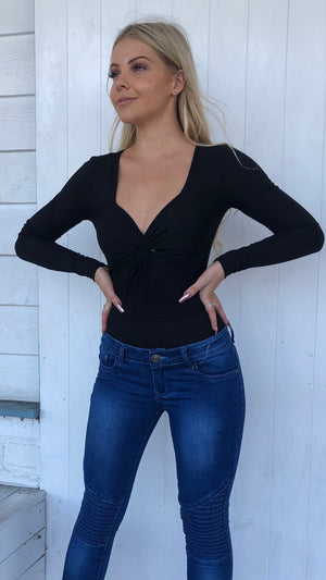 Black Long Sleeved Body Suit