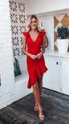 Midi Red Cocktail Dress