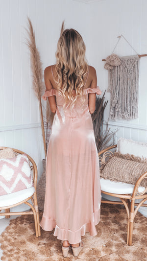 High-Low Baby Pink Dress