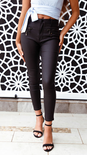Riley Leather Look Pant