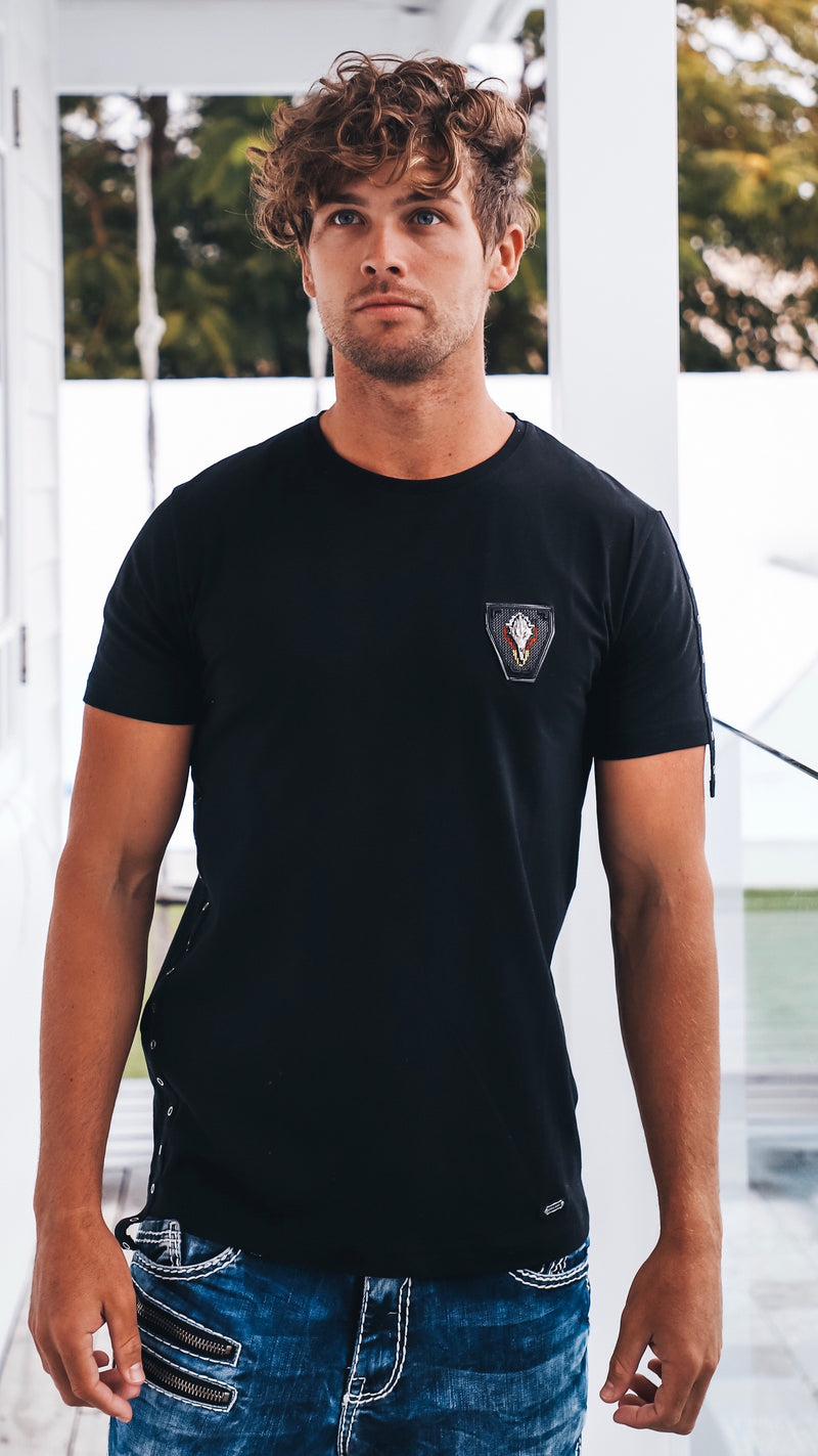 Mens Black Cipo and Baxx Tee