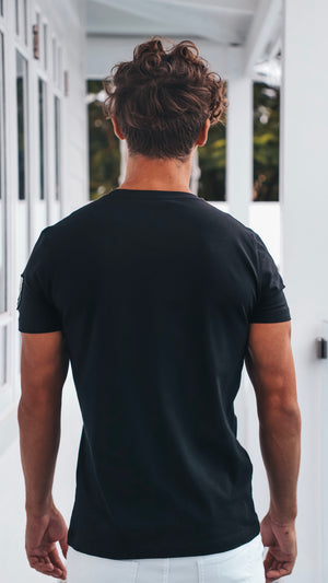 Black Mens Basic Tee Cipo and Baxx
