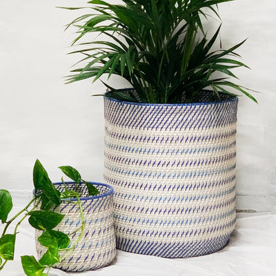 Barrel Basket Cool Stripe - Eden Gardens