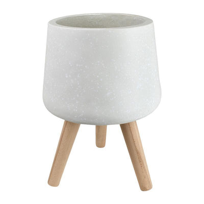 Cloud Composite Pot w Legs White - Eden Gardens